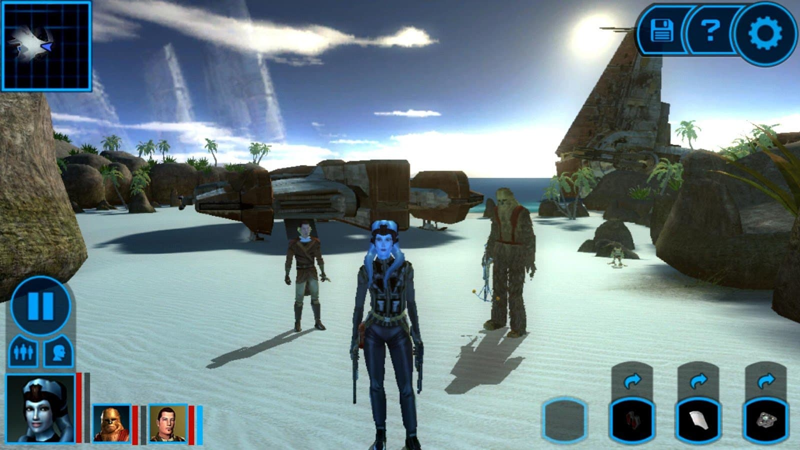 Скачать star wars: knights of the old republic для android.